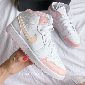 Nike air jordan baby pink and tint of peach cream